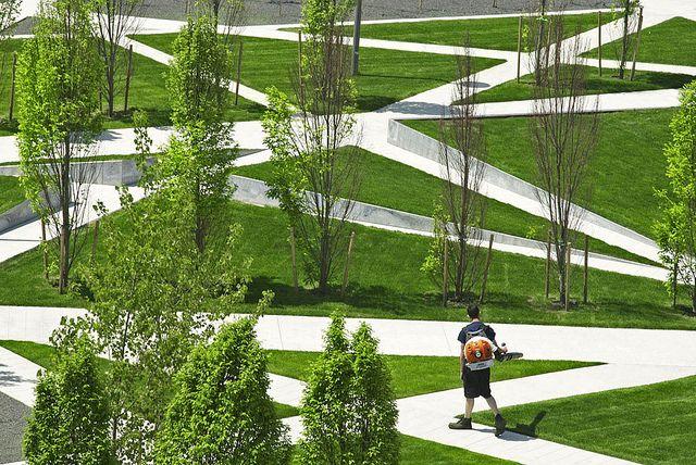 Public Park Landscape Architecture Design Park Landscape Landscape Design