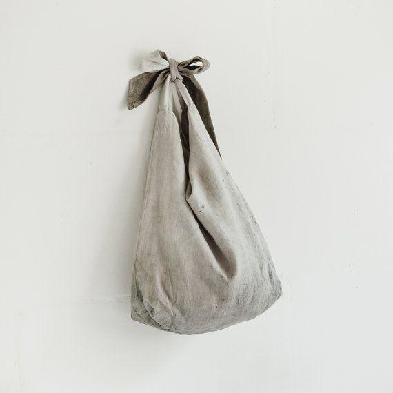 Linnen Tote tas / grote schouder tassen / natuurlijke door taftyli