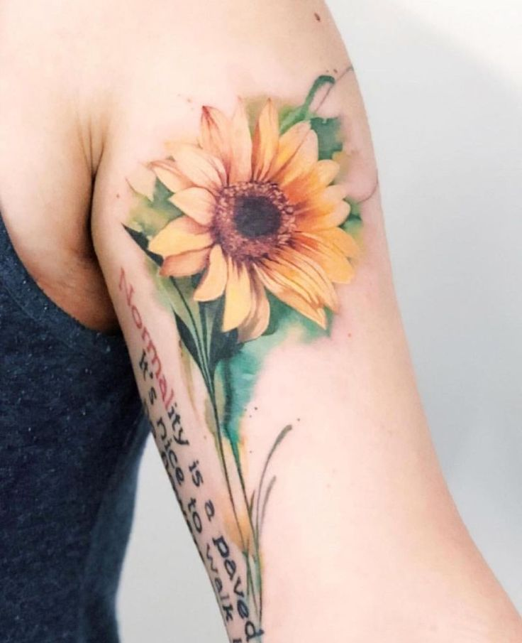 Photo of 32 Most Beautiful Sunflower Tattoo Ideas Just for You – #Beautiful #ideas #Sunfl…