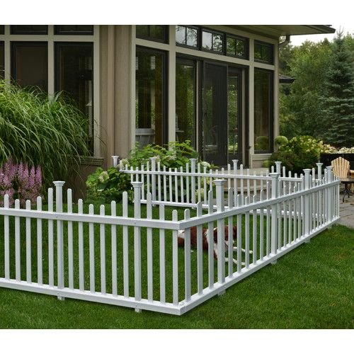 2 5 Ft H X 4 7 Ft W Madison No Dig Garden Fence Panel