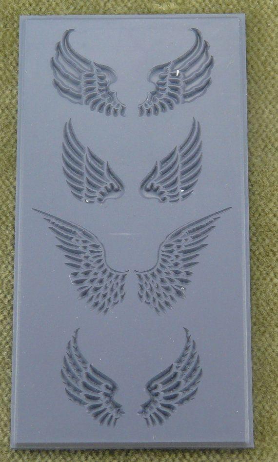 Flexible Texture Tile Cool Tools 4 X 2 Angel Wings Embossed