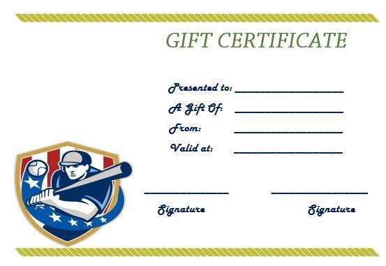 Baseball gift certificate template baseball certificate baseball gift certificate template yelopaper Gallery