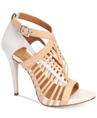 ee6a77a3354 CALVIN KLEIN Calvin Klein Women S Naida Caged Sandals.  calvinklein  shoes    all women
