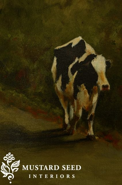 The Final Coat Latest Cow Miss Mustard Seed Giclee Painting Cow Painting Cow
