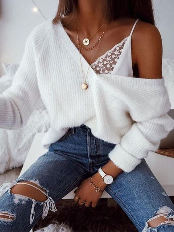 34 Atemberaubende Pullover Ideen #cuteoutfits