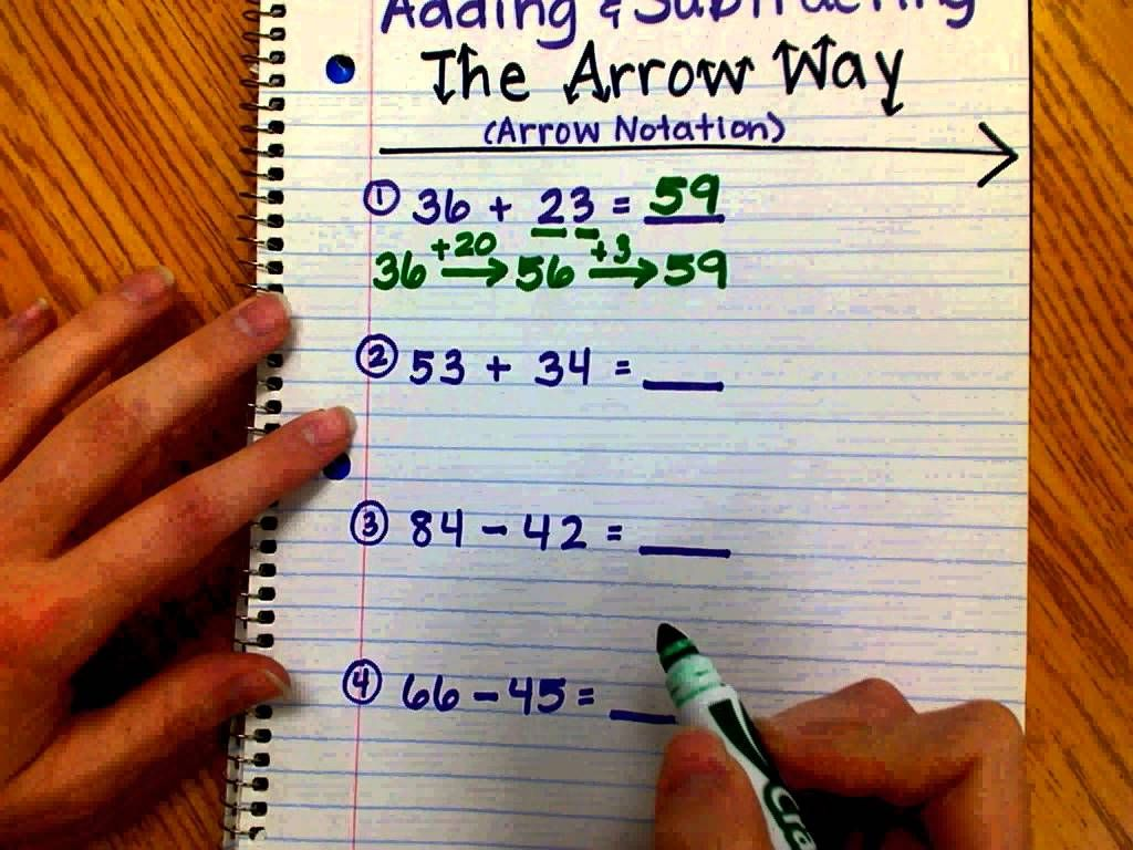 hight resolution of adding and subtracting the arrow way