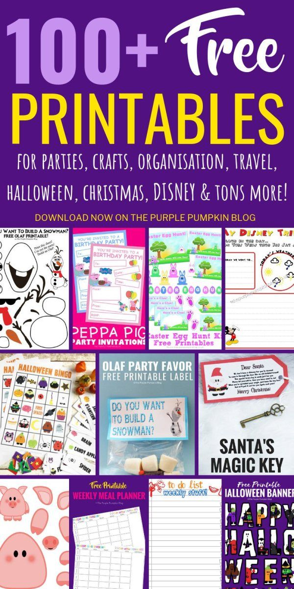 100+ Free Printables to Download (With images) Halloween