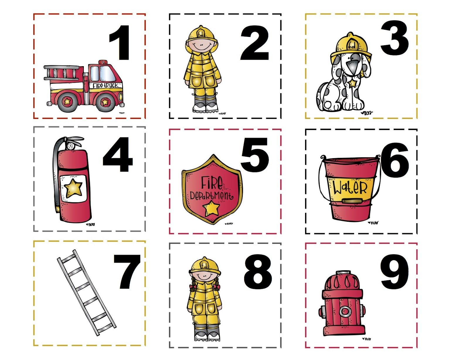 Free Preschool Printables Fire Safety Theme
