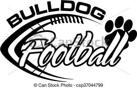 Vector Bulldog Football Stock Illustration Royalty Free