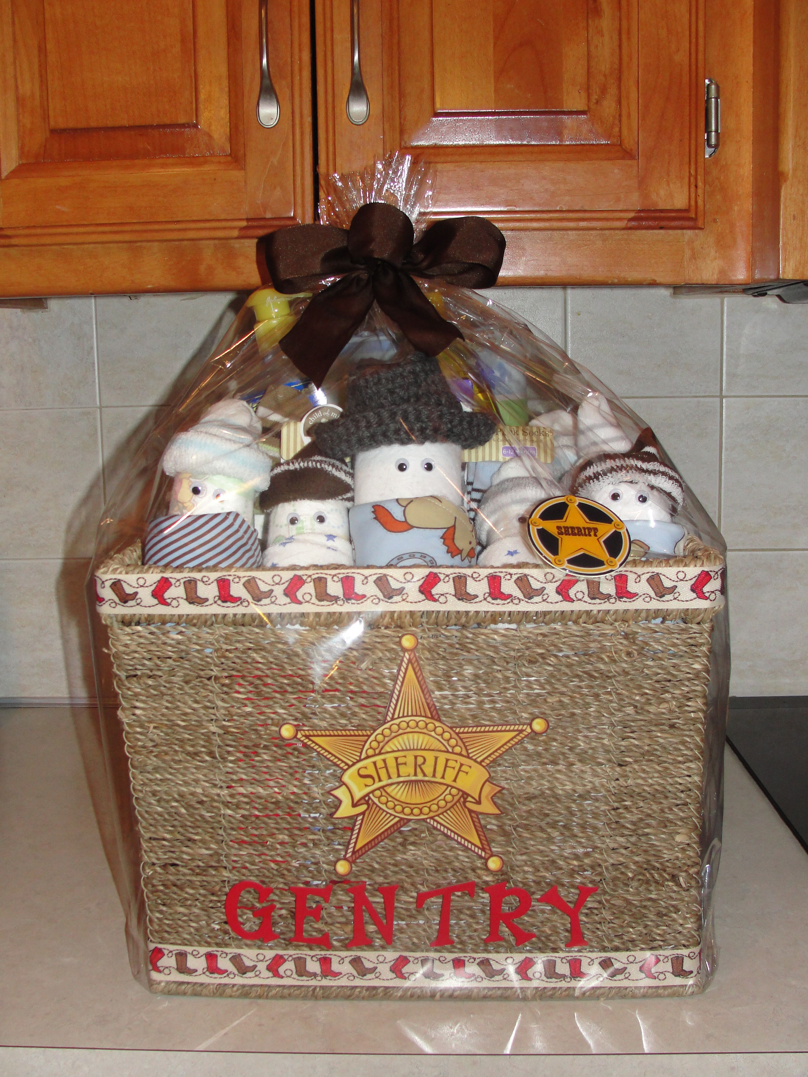 Pin By Chris Sanchez On Gift Baskets Baby Gifts Cowboy Baby Shower Baby Shower Themes Baby Shower