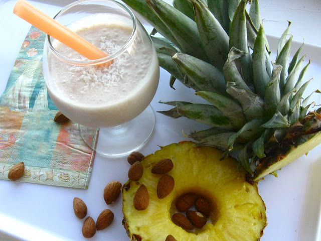 Tropical Smoothie #smoothies #pineapple #healthy #coconut