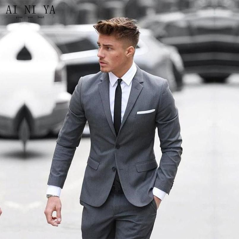 Mens Cotton Blended Formal Suit #men'ssuits