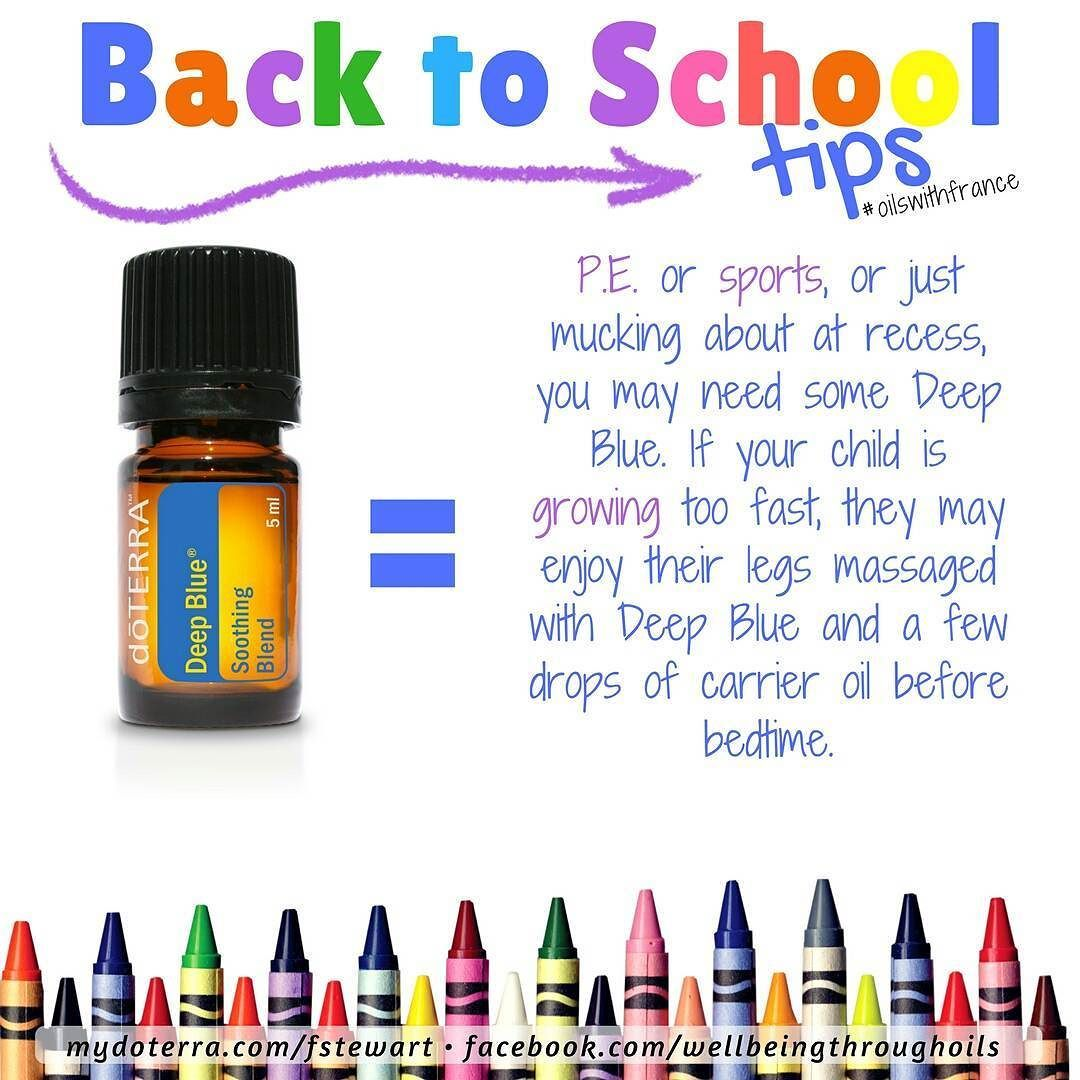 Itus time for tips on how oils can be useful for this backtoschool