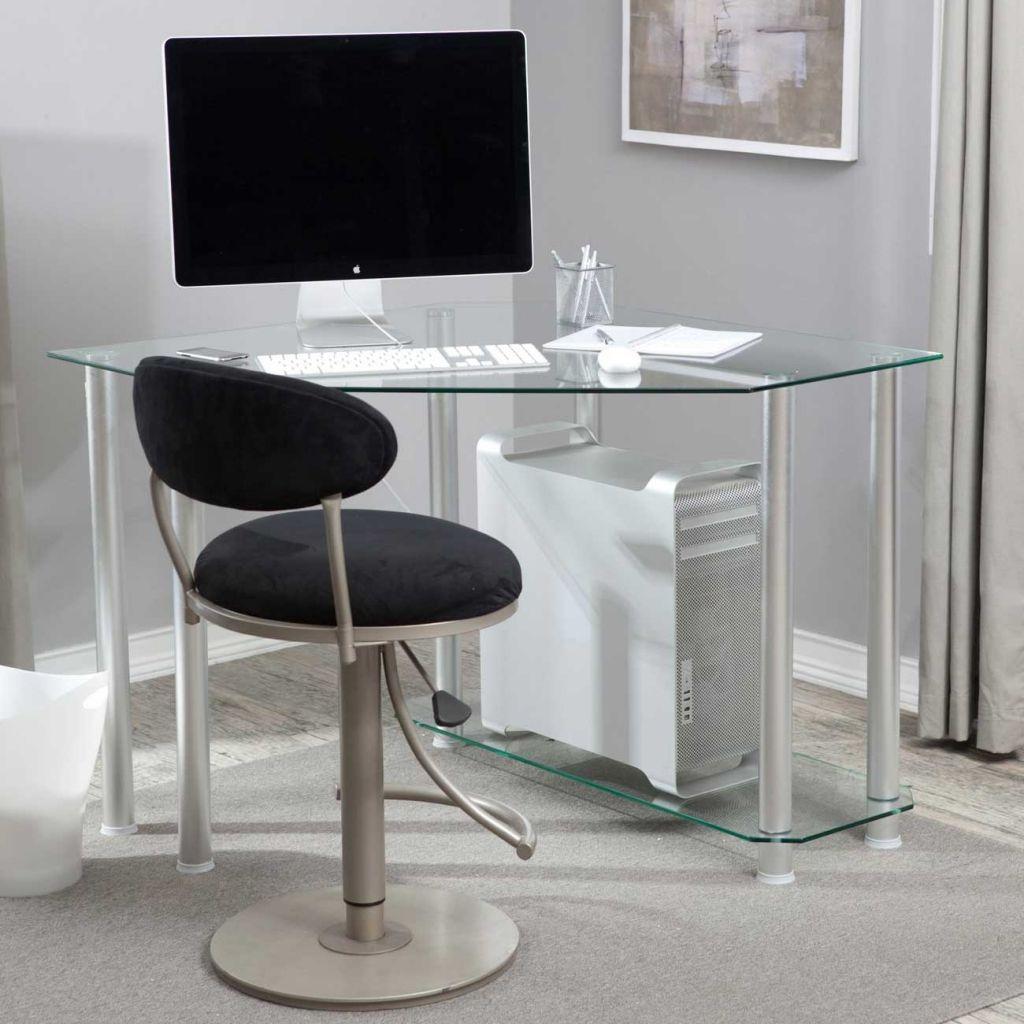 Klarglas Eck Computer Schreibtisch, Home Office Möbel Set Eine Der Besten  Möglichkeiten, Für Klarglas
