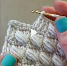 Tutoriel vidéo pour tricoter le point bouffant   – Denemeye değer