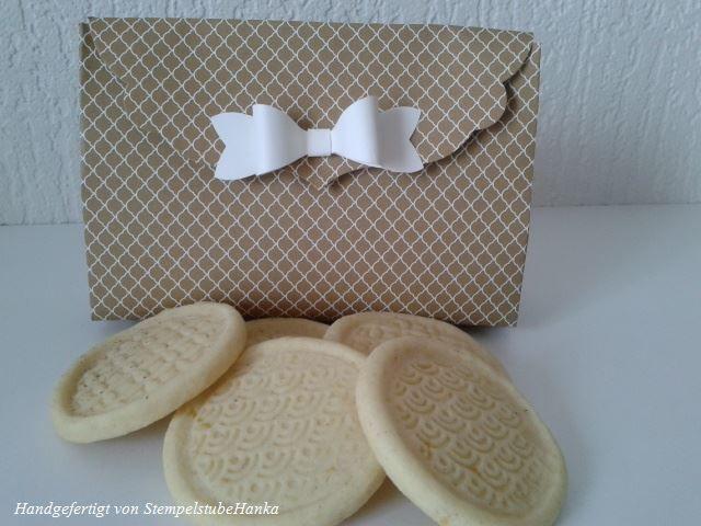 Selbstgebackene Kekse schön verpackt :-)