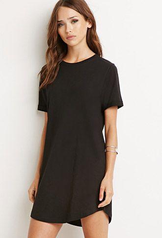 34a44aacf5f Classic T-Shirt Dress | Forever 21 - 2000156063 | Fashion | Black ...