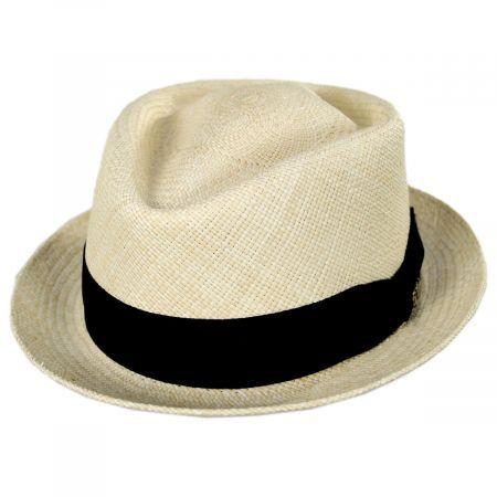 Diamond Panama Straw Fedora Hat #fedoras