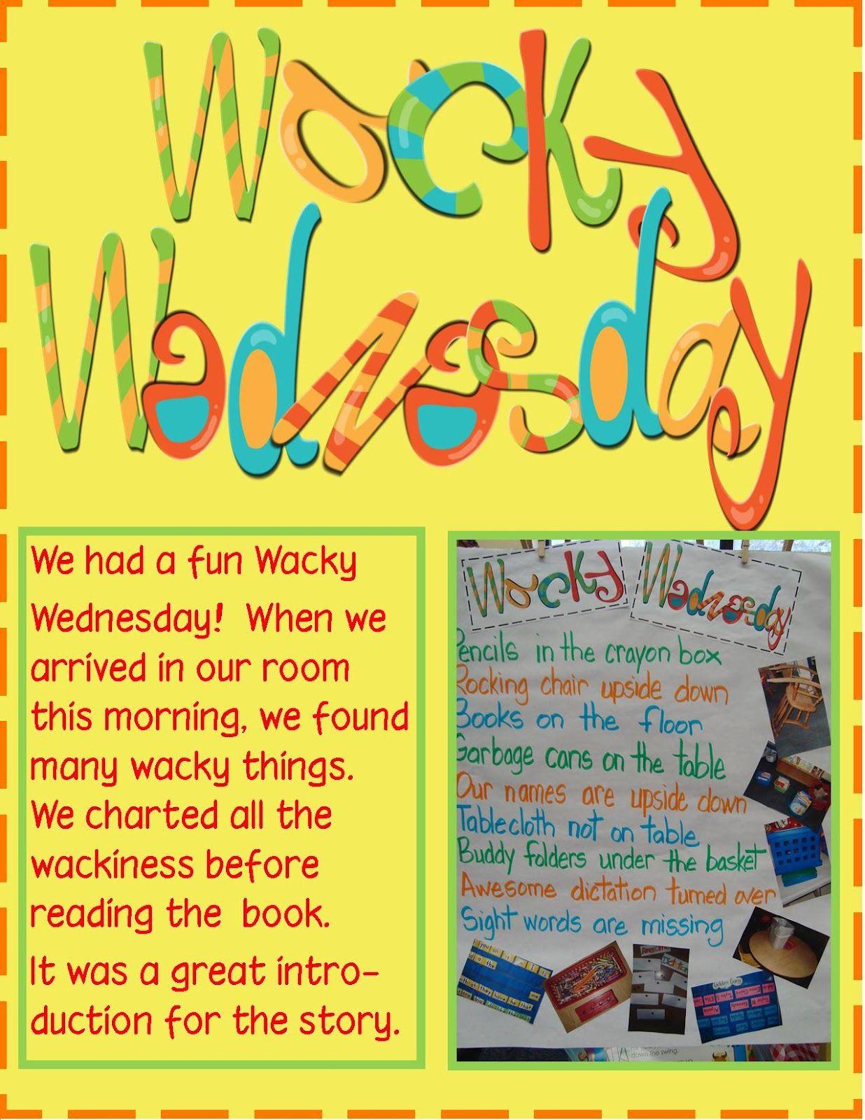 Golden Gang Kindergarten Dr Seuss Wacky Wednesday