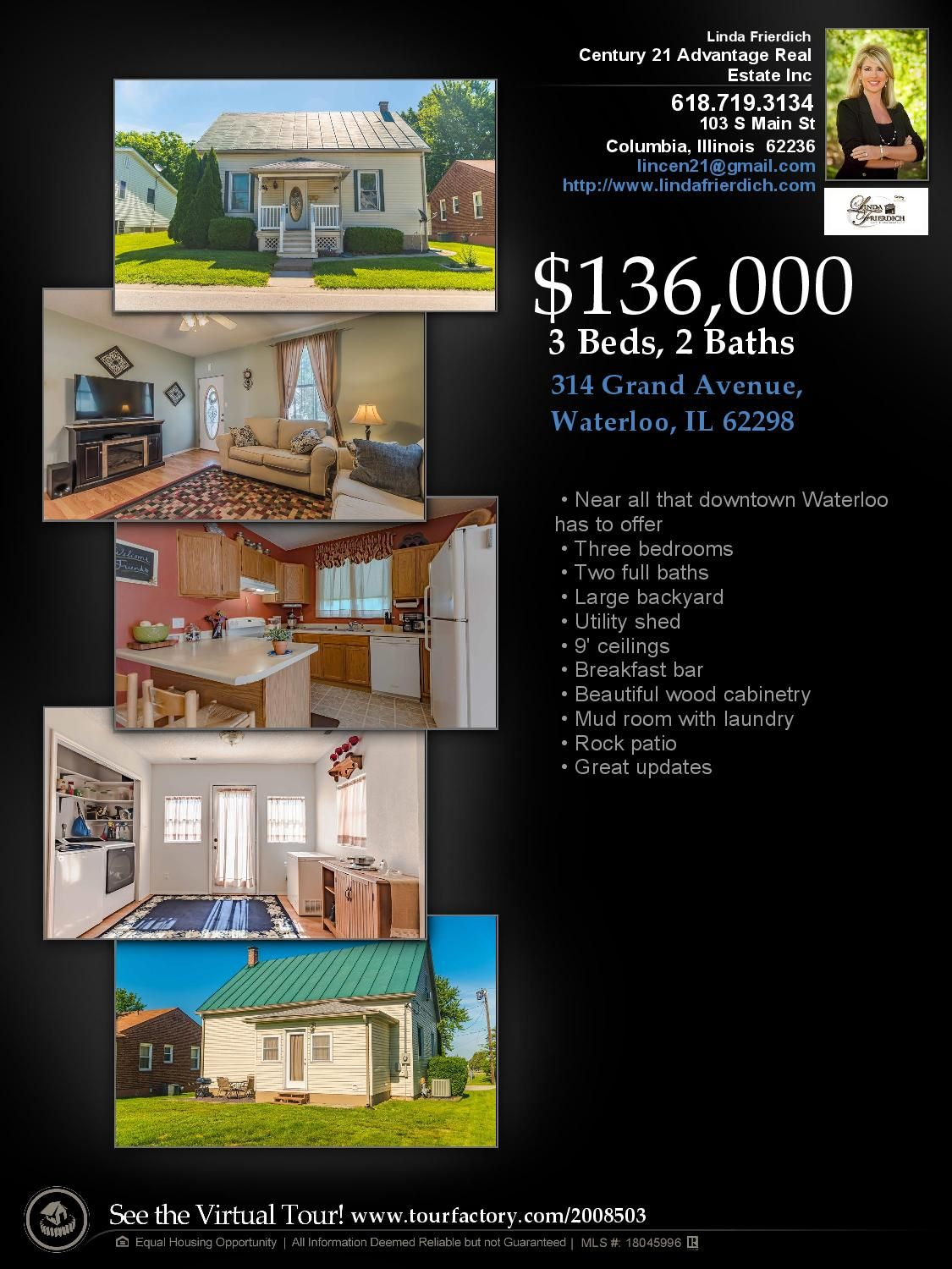 Great Waterloo home for sale! Tons of charm and updates