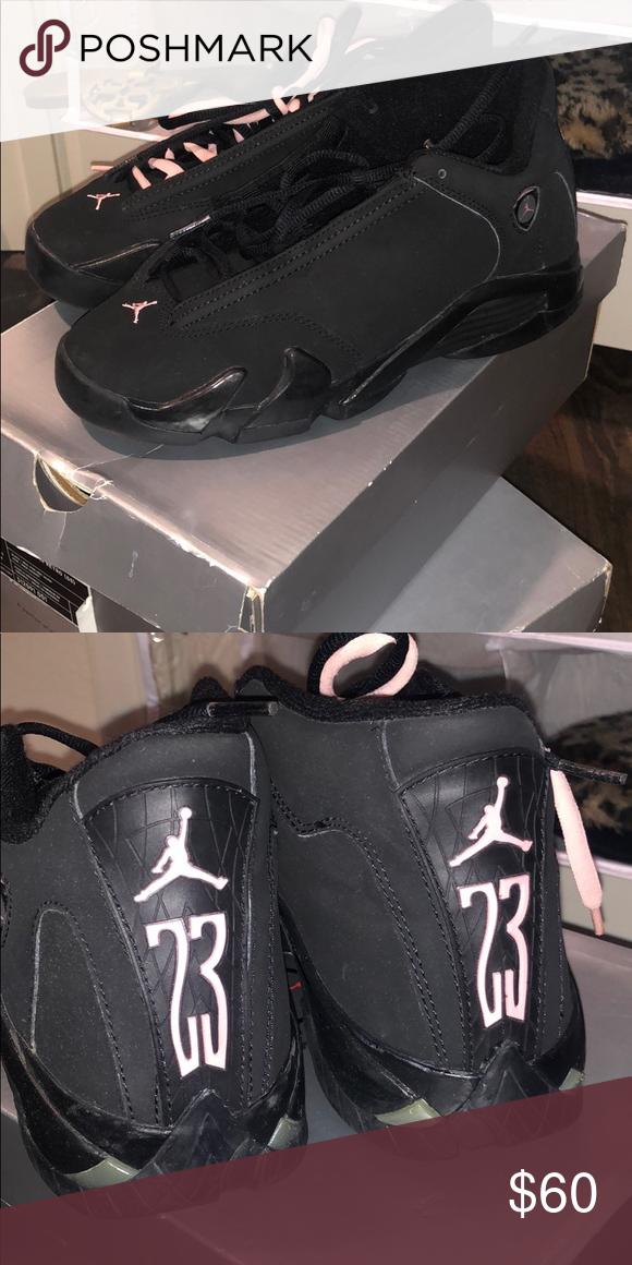 best service 27407 397ee Jordan 14 Black and pink Jordan 14 Jordan Shoes Sneakers ...