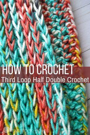 Third Loop Half Double Crochet (Video Tutorial)   Häkeln