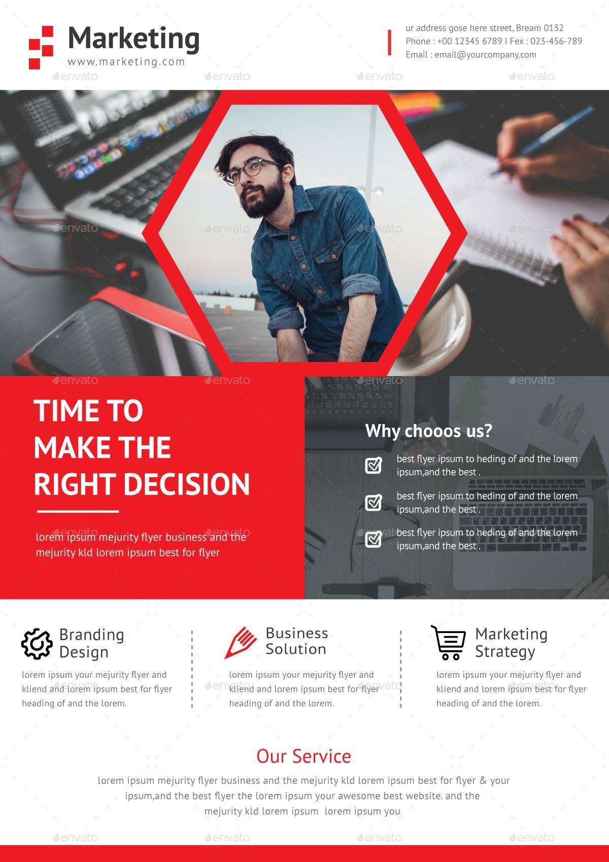 business flyer ad template very powerful professional corporate