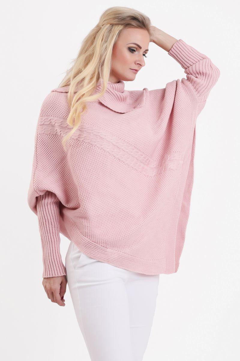 9e4fd1ee26 nádherné ružové dámske pletené pončo