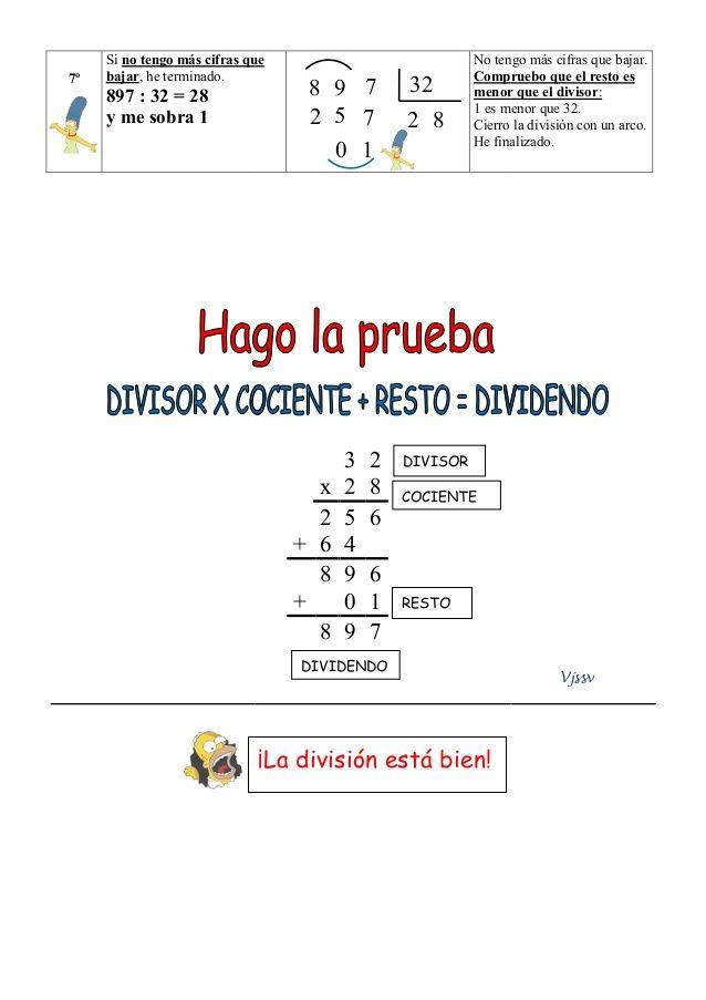 Division Por Dos Cifras Paso A Paso Divisiones Matematicas Divisiones De Dos Cifras Secundaria Matematicas