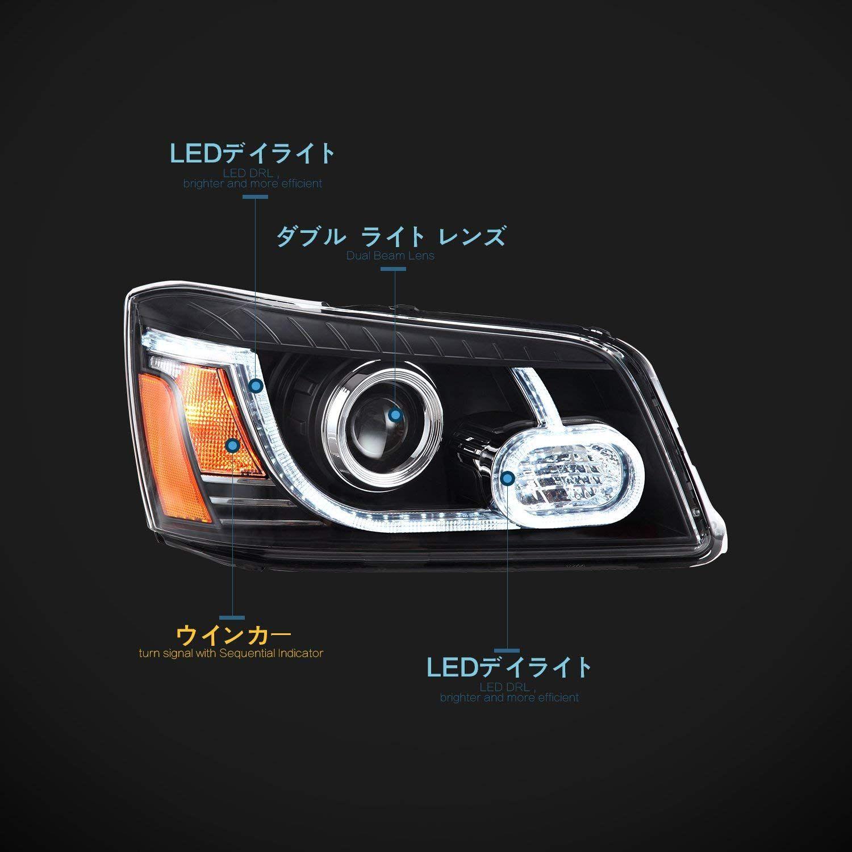 Usekaトヨタ クルーガー初代に適した ドレスアップ イカリング ヘッドライト ヘッドランプ 左右セット新品 2001 2007年 Led For Toyato Highlander Head Lamp Vland Carlamp Headlights Toyota クルーガー イカリング ヘッドランプ