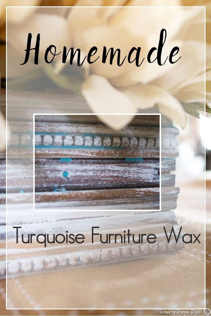 Could Your Rustic Piece Use A Bit Of Turquoise Handmade Furniture Wax In