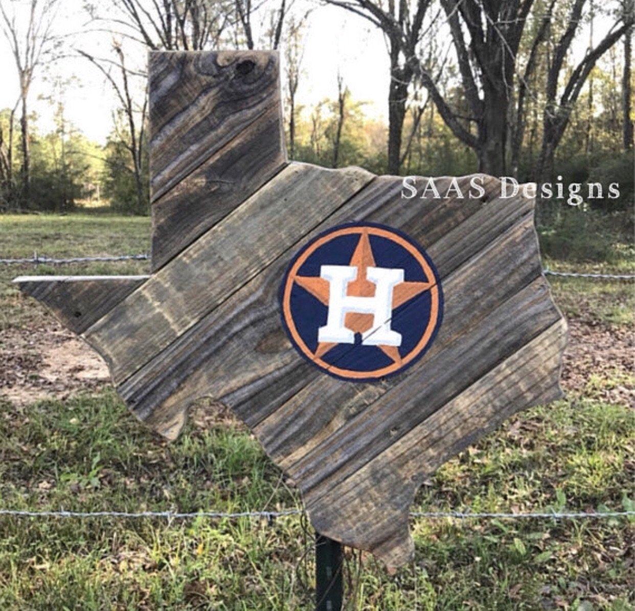 Houston Astros Rustic Texas