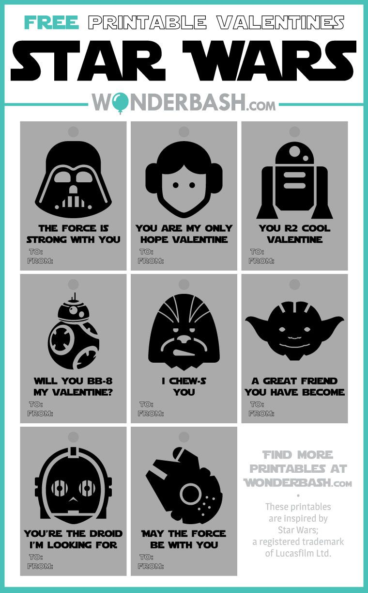 graphic about Printable Star Wars Valentine identify Star Wars Valentines Printables Free of charge Obtain Events comprehensive