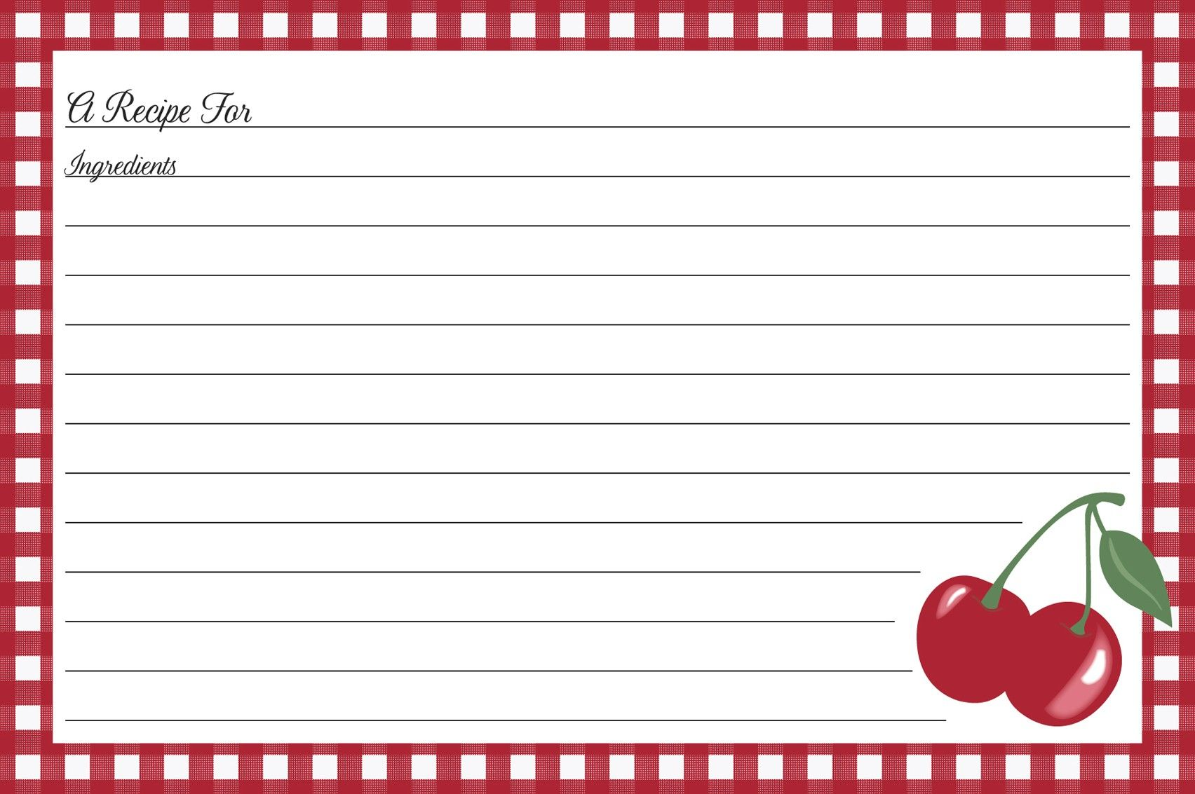 kitchen cherry recipe cards  u2022 jessie steele