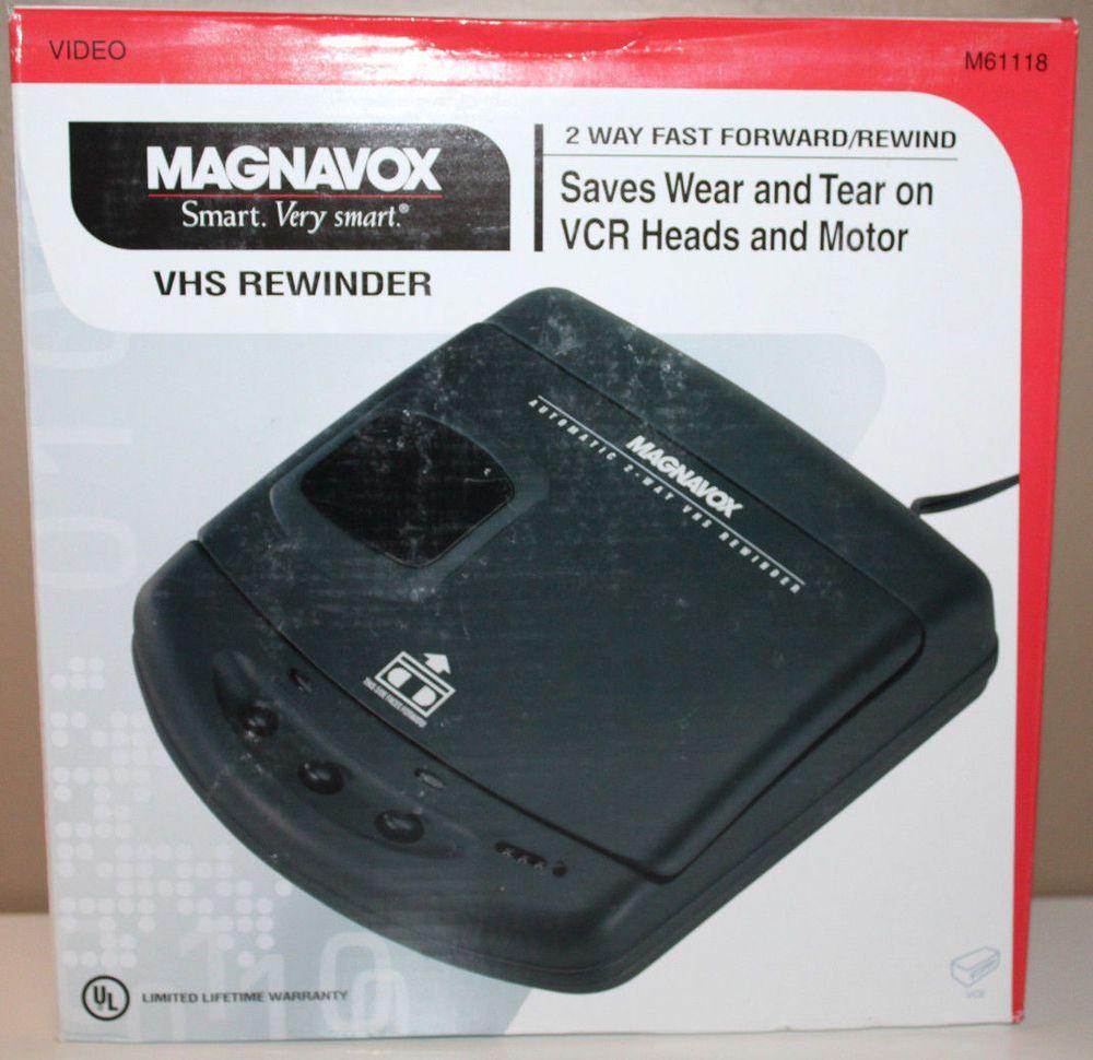 Magnavox VHS Tape Rewinder M61118 AC Powered 2 Way Fast