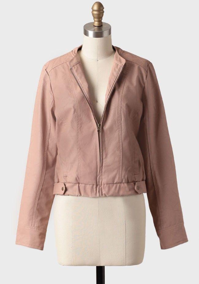 $58 Lenon Faux Leather Jacket By BB Dakota | Modern Vintage Outerwear