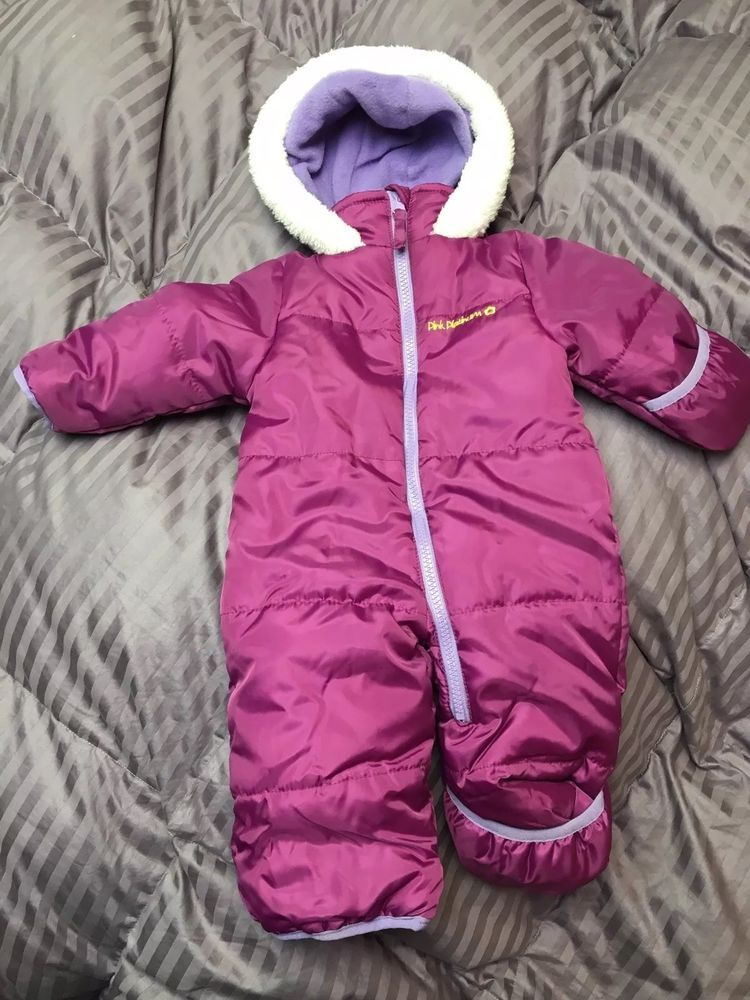 a708d8b2a Pink Platinum Baby Girls One Piece Winter Purple Snowsuit Size 3-6 ...