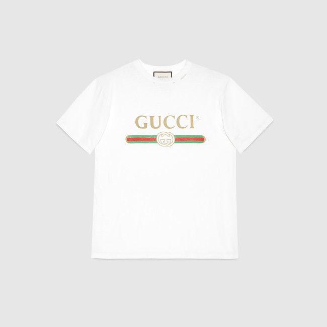 28957462b5 Camiseta extragrande con Logotipo Gucci