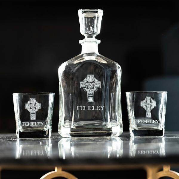 Personalized Whiskey Decanter Set, Irish Wedding Gift