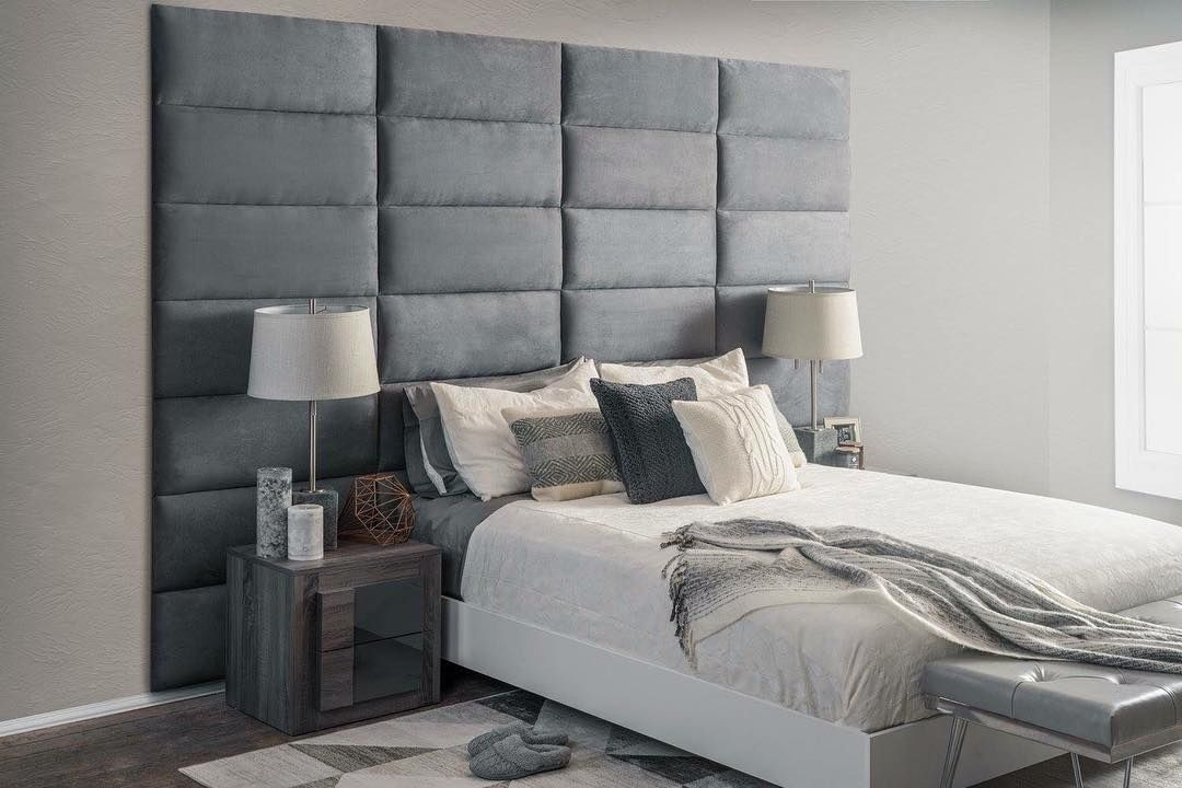 Diy Vant Panel Walls And Upholstery Turns Your Living Space Experience Into A Backboards For Beds Bedroom Makeover Diy Bedroom Design