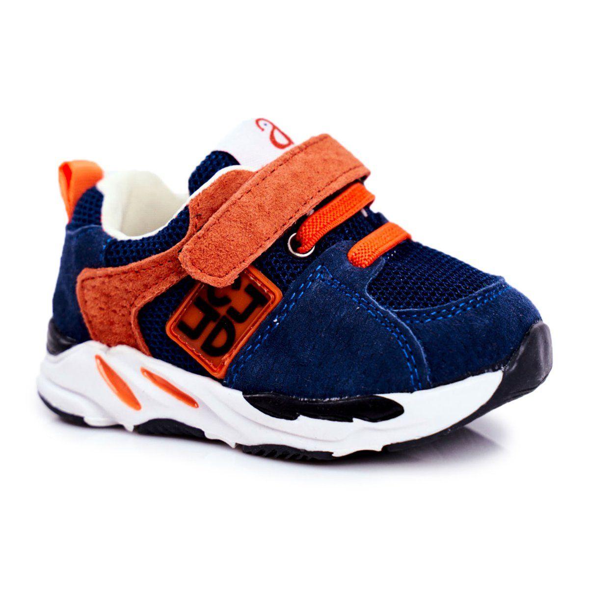 Apawwa Sportowe Buty Dzieciece Na Rzep Granatowe Jonaba Pomaranczowe Baby Shoes Shoes Fashion