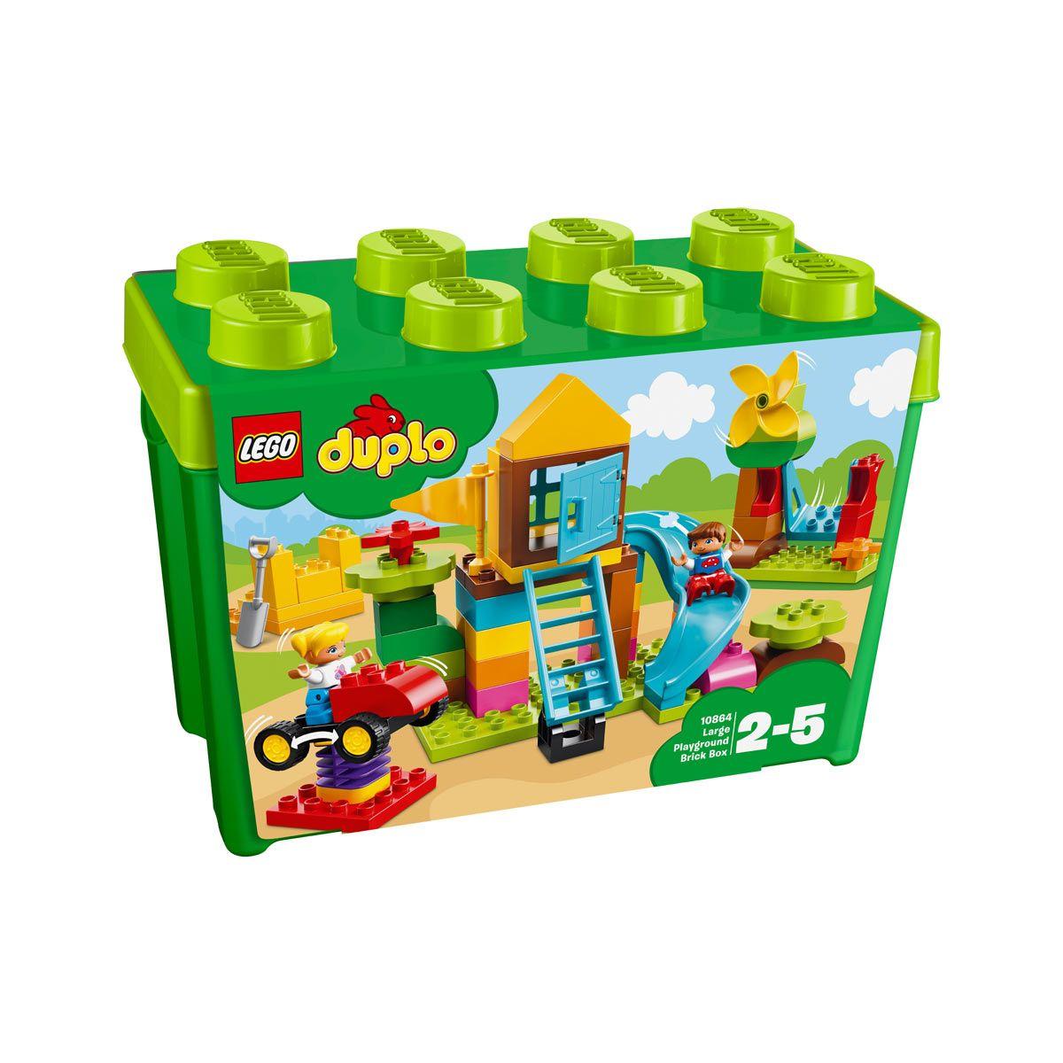 10864 La grande boîte de la cour de récréation Duplo Lego pour enfant de 2 ans à 5 ans - Oxybul ...