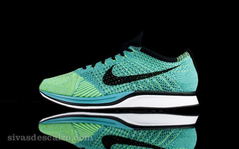 ironía apaciguar acidez  Nike Flyknit Racer Azul / Turquesa / Verde | Zapatillas, Calzas, Ropa