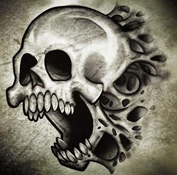 How to Draw a Skull Tattoo, Skull Tattoo, Step by Step