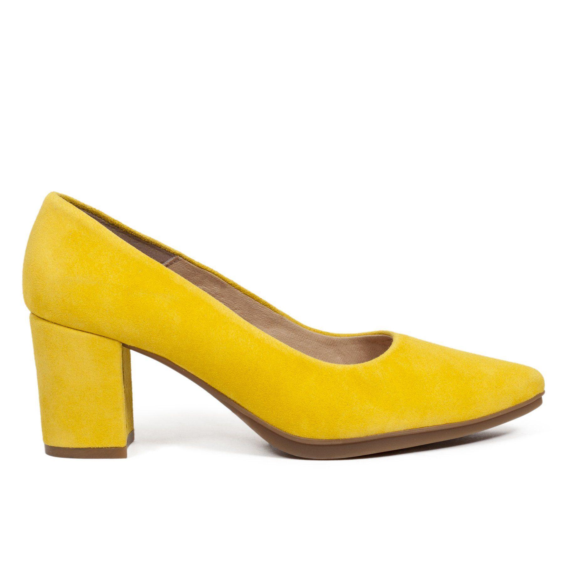 Zapato de tacón cómodo AMARILLO – Zapatos miMaO Online Hecho