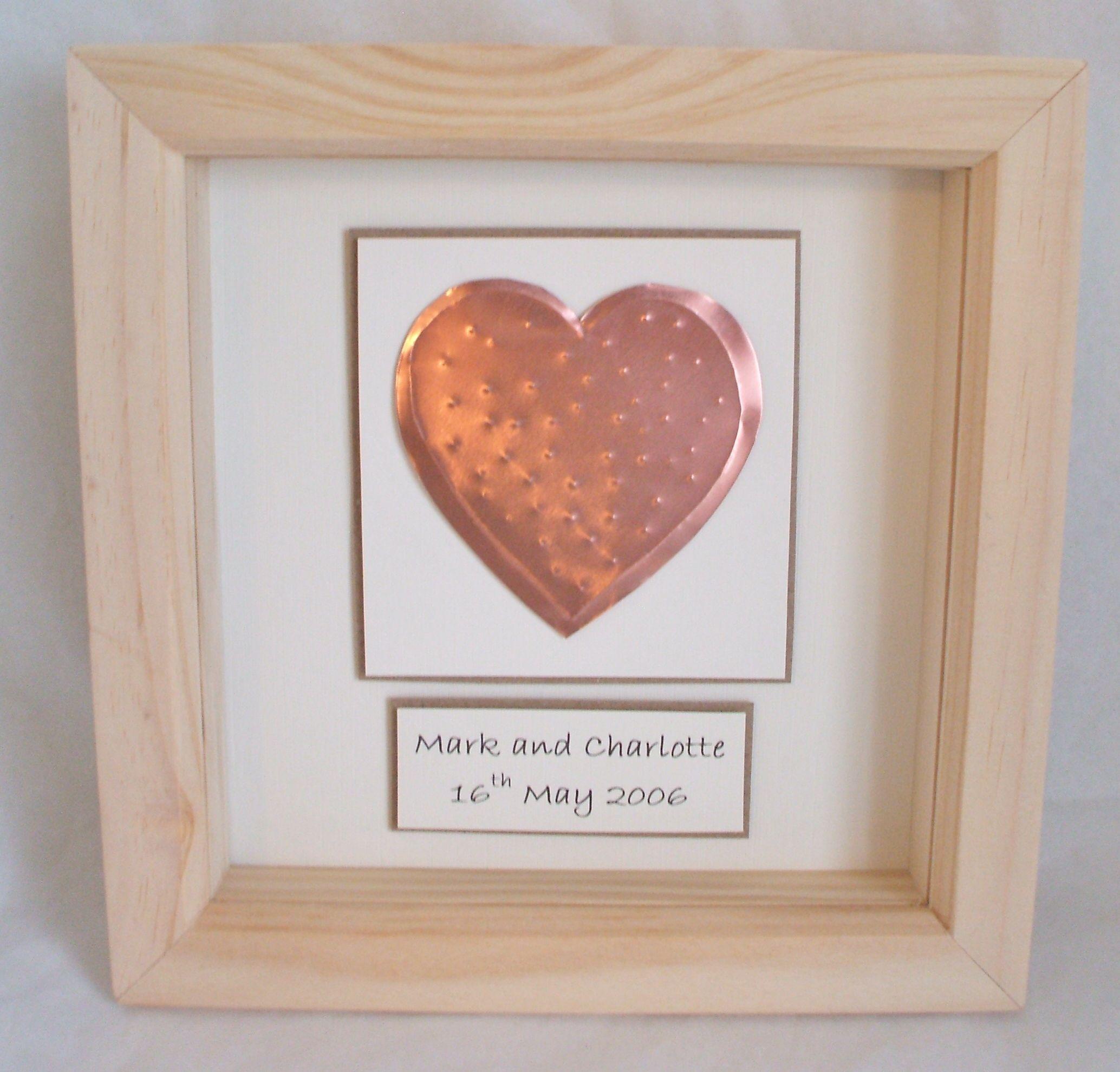 Beautiful 7th anniversary copper heartbox gift 7th