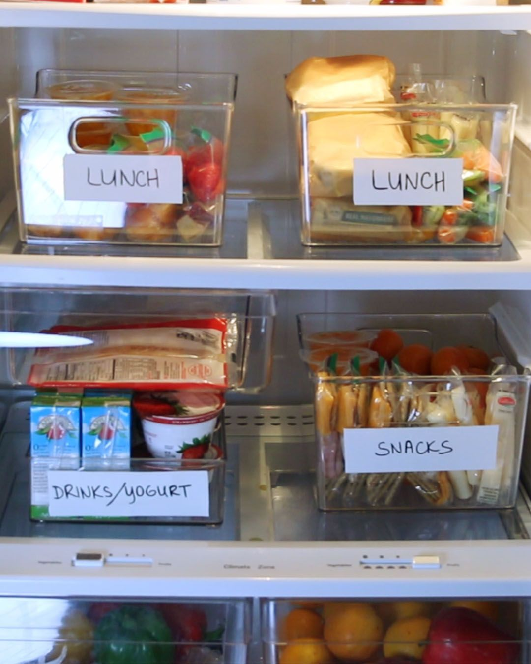 Fridge Organization 101 Kids Lunch For School Fridge