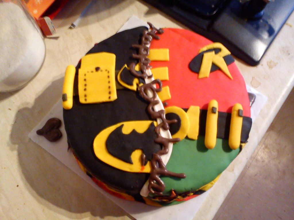 Awesome Birthday Cake Batman and Robin CakeFor the Young and