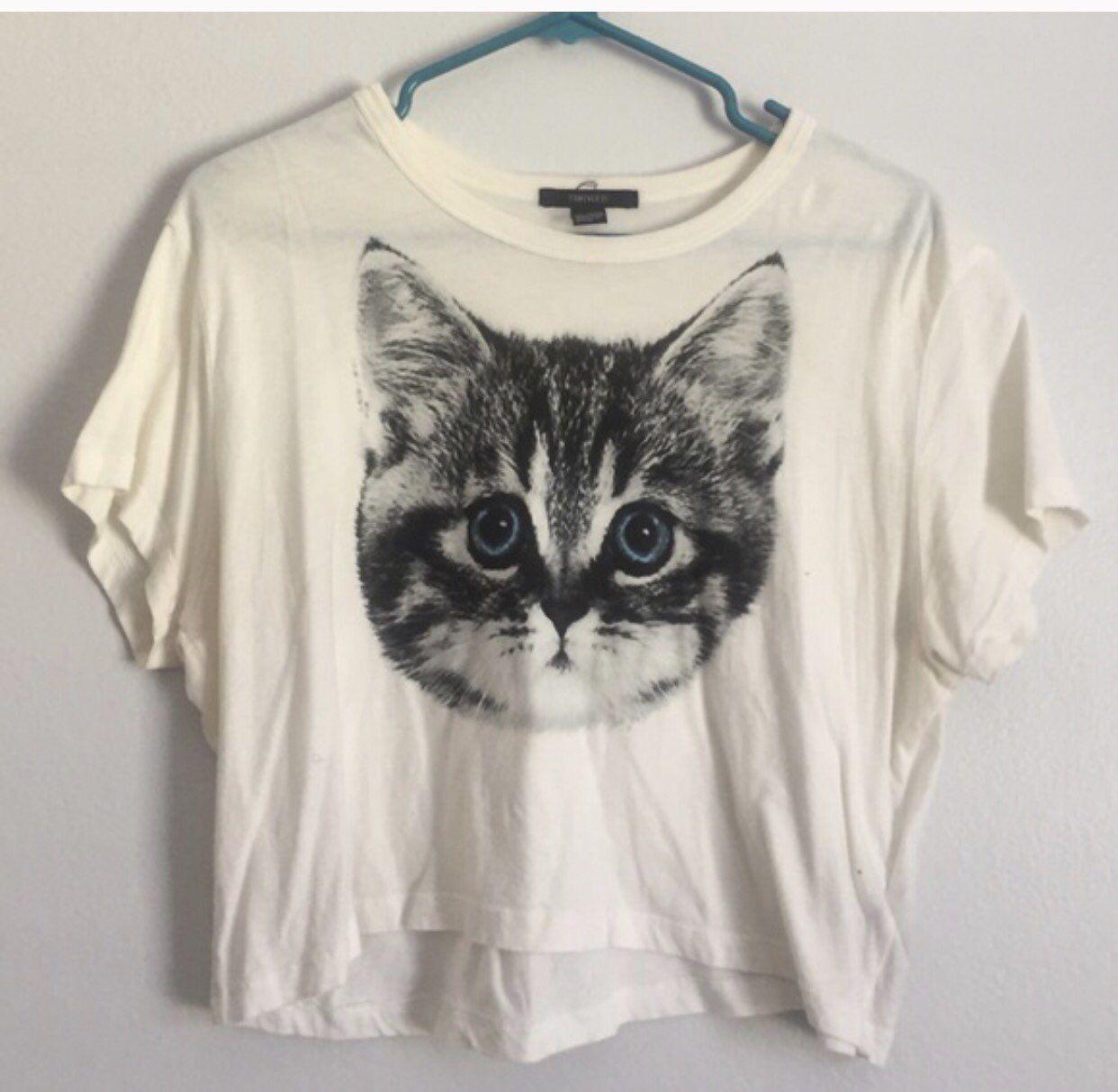 Cat Crop Top Tops Crop Tops Clothes Design