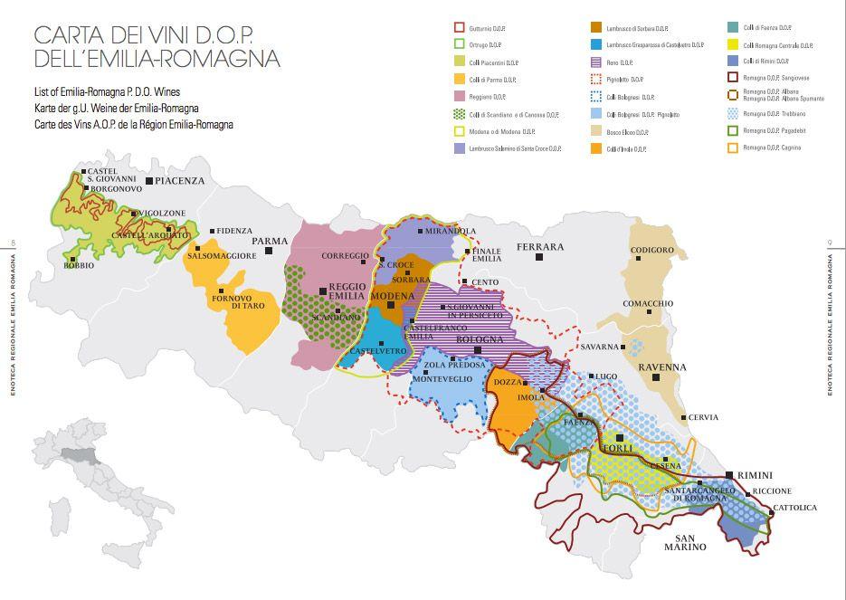The Secret Wines Of Emilia Romagna Wine Map Emilia Romagna